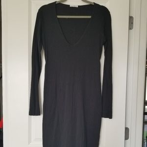 James Perse Long Sleeve Black Dress Sz 3